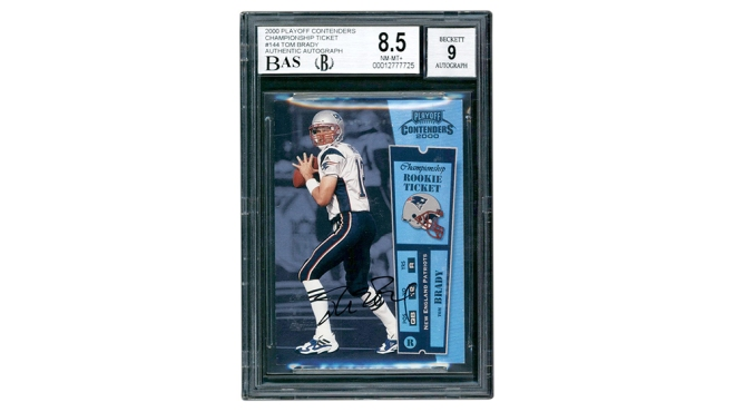 2000 Playoff Contenders Championship Rookie Ticket Tom Brady card