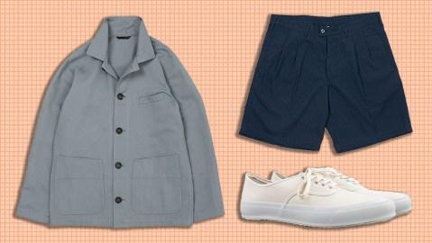 Anglo-Italian jacket, Dopiaa shorts, Doek sneakers