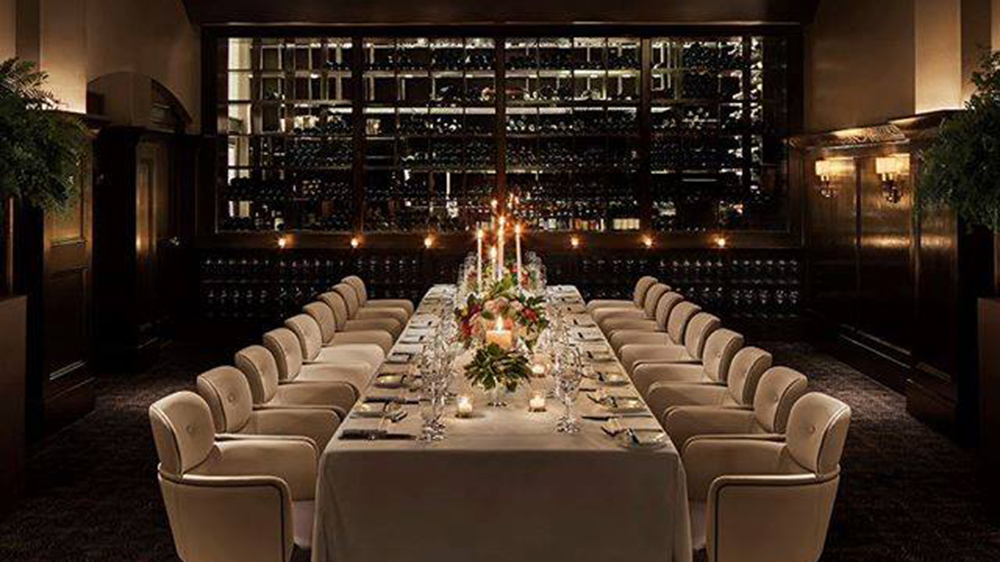 One of Del Posto's private dining rooms