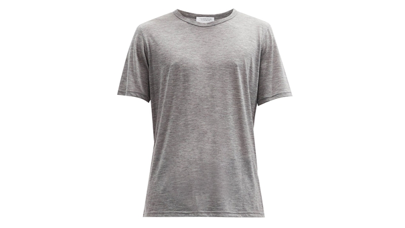 "Gabriela Hearst ""Bandeira"" Cashmere T-Shirt"