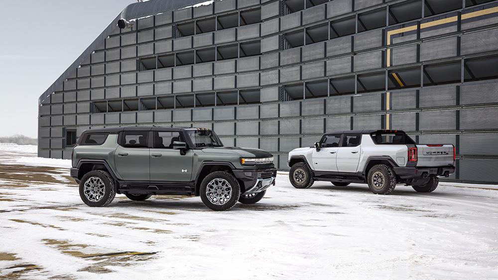 2024 Hummer EV SUV Edition 1 (left) and 2022 Hummer EV Edition 1