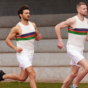 Runners in Iffley Road's new limited-edition vest.