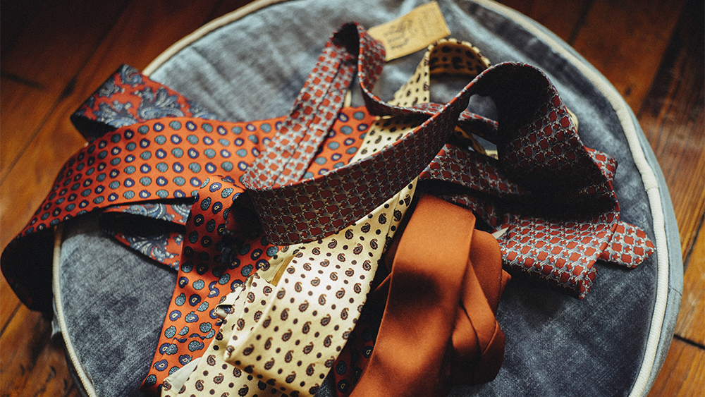 A selection of vintage J. Press ties.