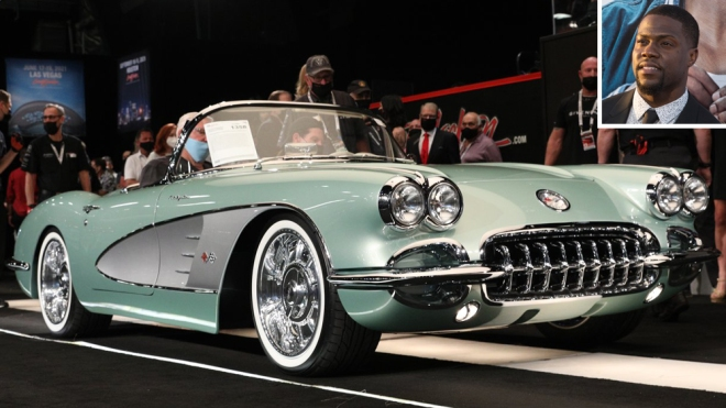 Kevin Hart and his 1959 Chevrolet Corvette restomod