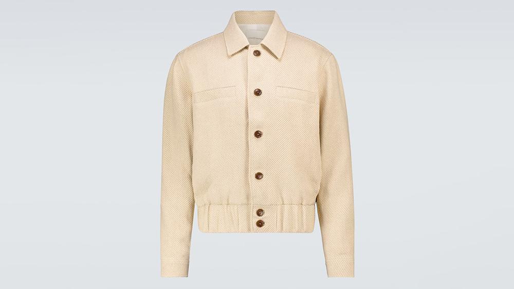 King and Tuckfield Linen-Cotton Harrington Jacket