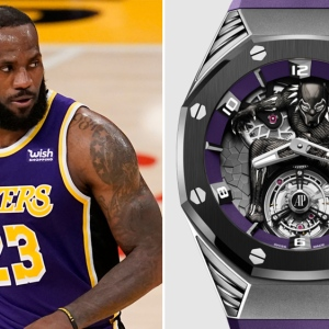 "LeBron James and Audemars Piguet's Royal Oak Concept ""Black Panther"" Flying Tourbillon"