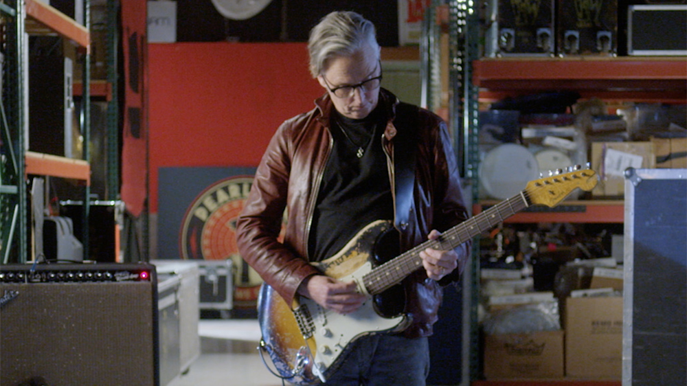 McCready and his signature Fender Stratocaster