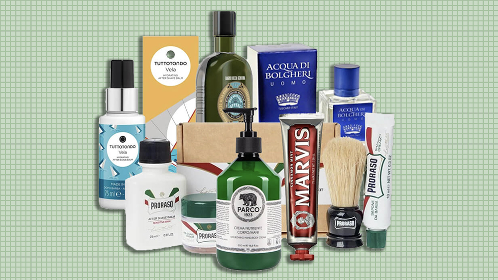 "Mozzafiato's ""Italian Gentleman"" includes all of the shop's most popular grooming products."