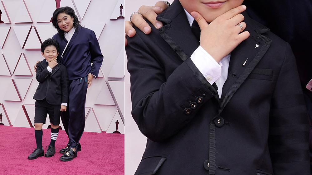 Alan Kim at the 2021 Oscars