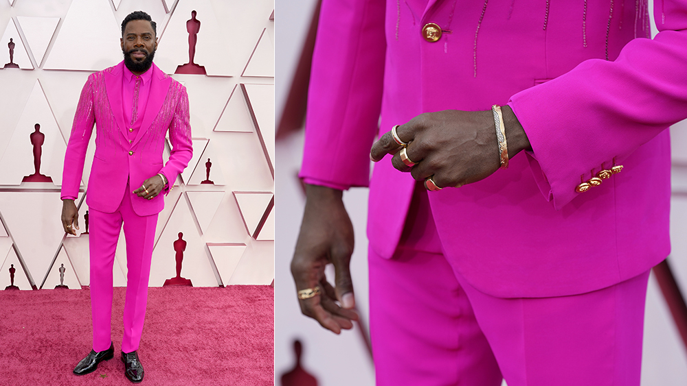 Colman Doming at the 2021 Oscars