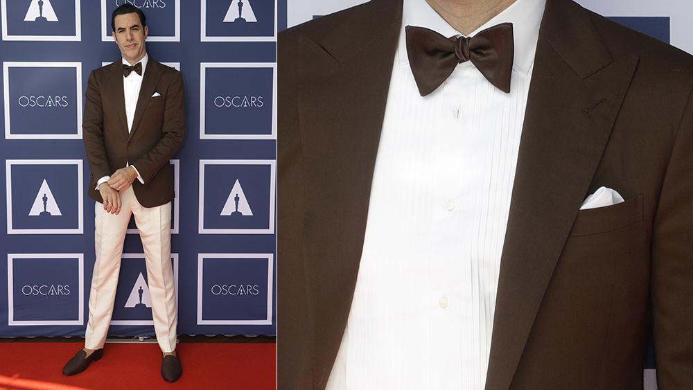 Sacha Baron Cohen at the 2021 Academy Awards