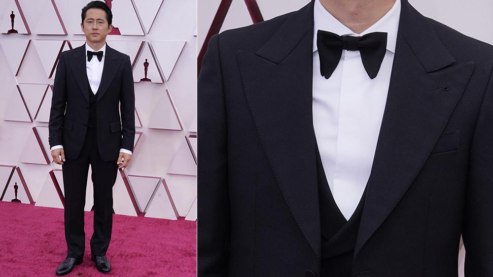 Steven Yeun at the 2021 Oscars