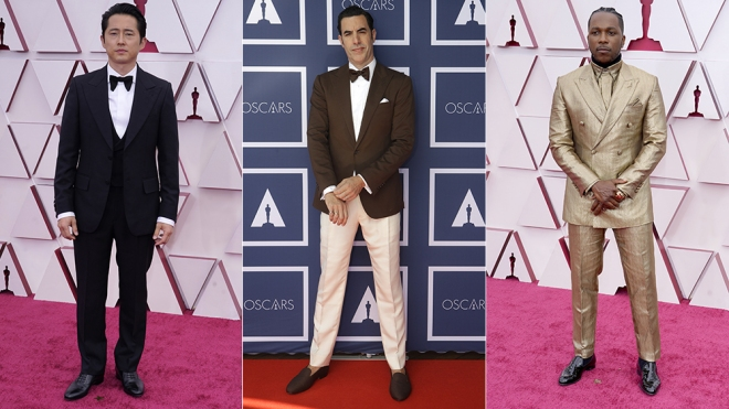 The best dressed men at the 2021 Oscars.
