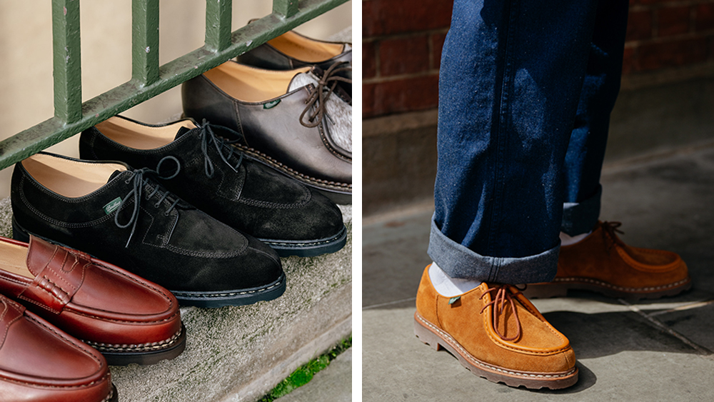 A selection of Paraboot's most iconic models.