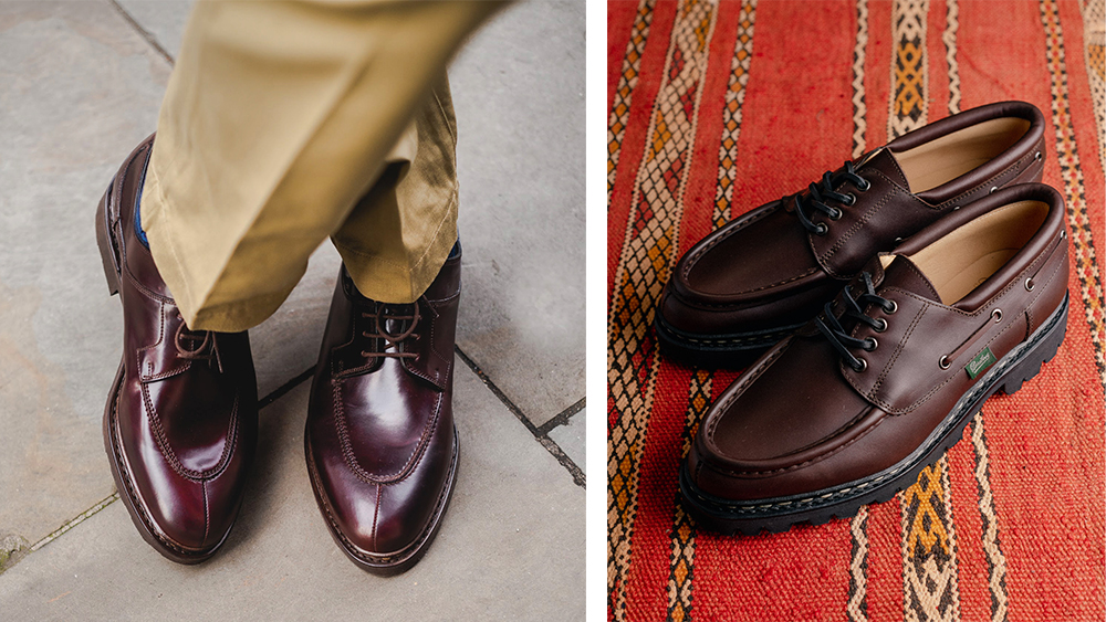 """Paraboot's """"Avignon"""" and """"Chimney"""" derbies."""