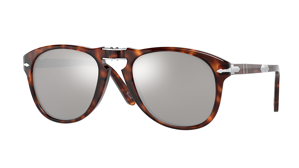 The limited-edition 714 sunglasses fitted with platinum-plated lenses.