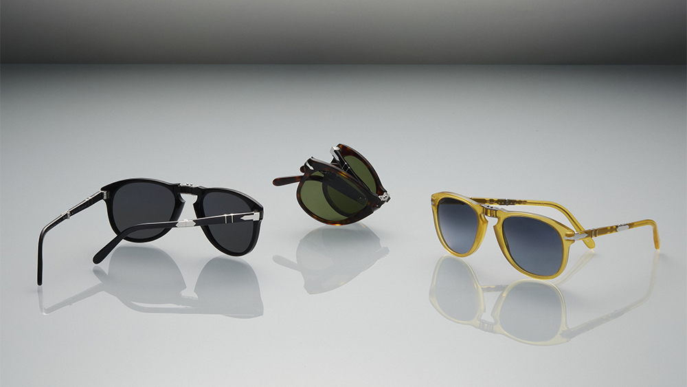 Three models from the new, special edition of Persol's 714 sunglasses.