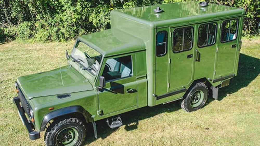 Prince Philip's custom Land Rover Defender 130 Gun Bus