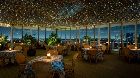 Sant'Olina Beverly Hilton Rooftop Restaurant