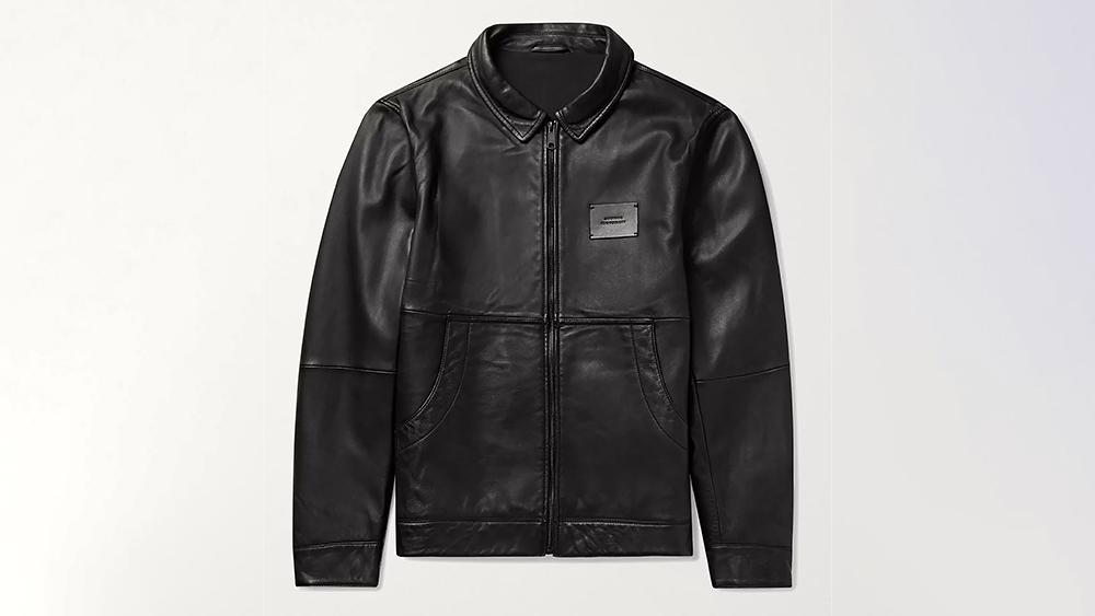 Saturdays NYC Leather Harrington Jacket