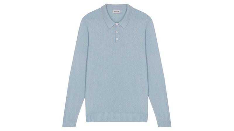 """Scaglione Silk """"Bourette"""" Polo Shirt"""