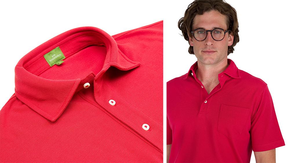 Details Sid Mashburn's pima piqué polo shirt.