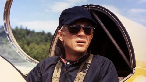 Steve McQueen in his Persol 714 sunglasses