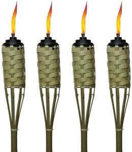 Tiki Luau Bamboo Torches