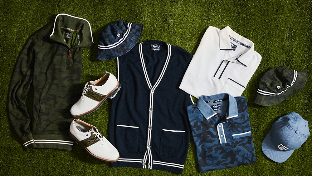 Items from the Todd Snyder x Footjoy collection.