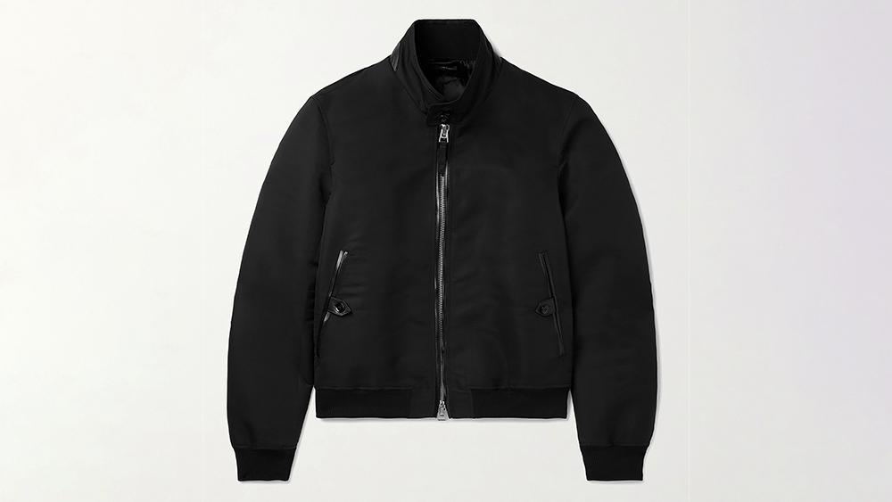 Tom Ford Garment-Dyed Cotton-Silk Harrington Jacket