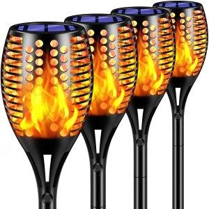 TomCare Solar Tiki Torches