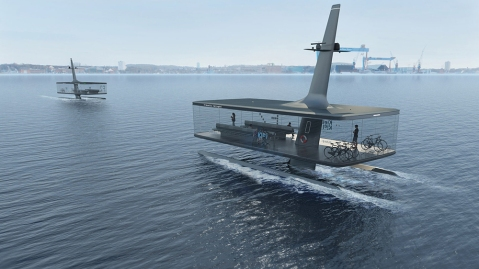 CAPTN Vaiaro autonomous electric ferry concept