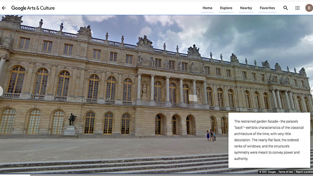 Exploring the Palace of Versailles with Google Arts & Culture