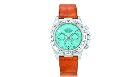 """Rolex """"Zenith"""" Daytona ref. 16516 with a turquoise dial"""