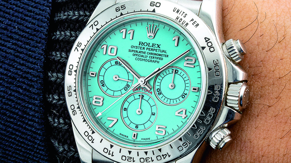 "Rolex ""Zenith"" Daytona ref. 16516 with a turquoise dial"