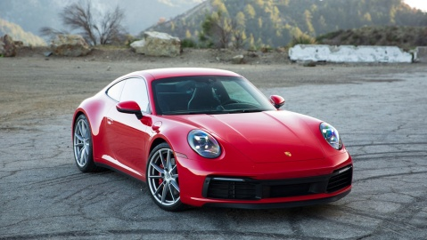The 2021 Porsche 911 Carrera S with a manual gearbox.
