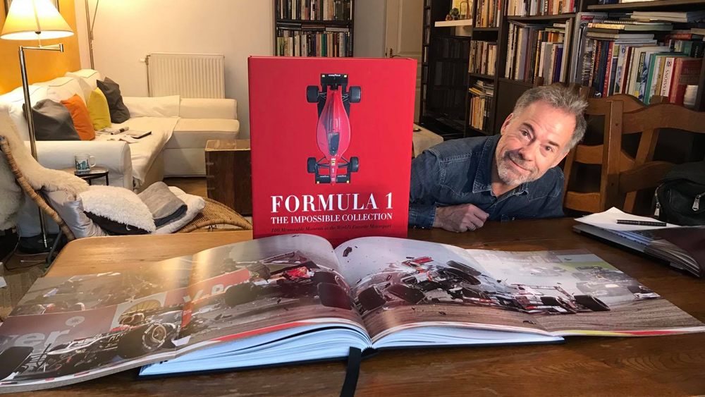 """Author Brad Spurgeon and his new book """"Formula 1: The Impossible Collection"""" from Assouline Publishing."""