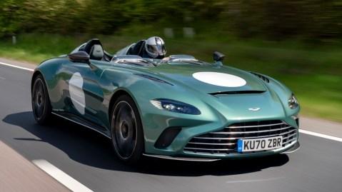 Driving the Aston Martin V12 Speedster.
