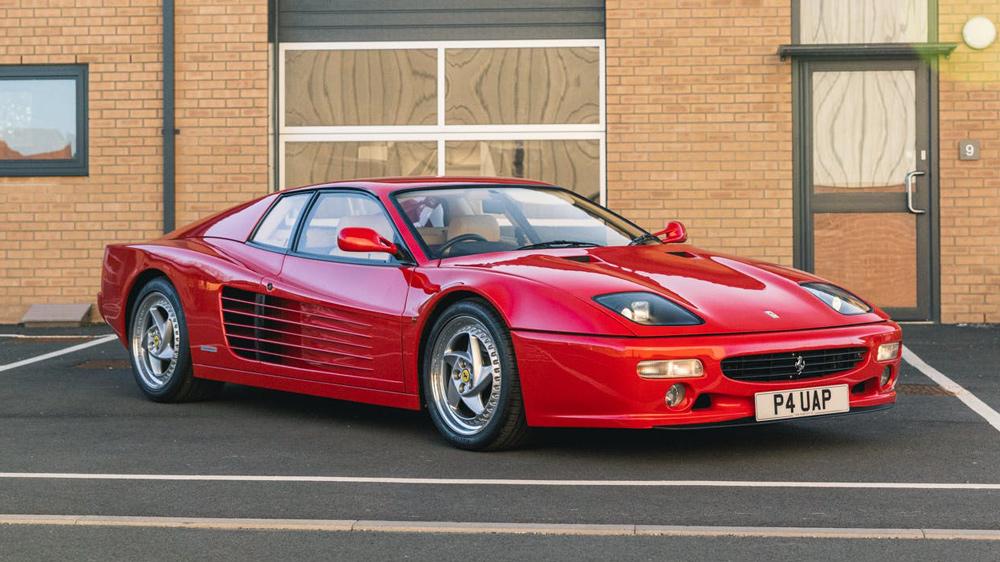 A 1997 Ferrari F512 M available through CollectingCars.com.