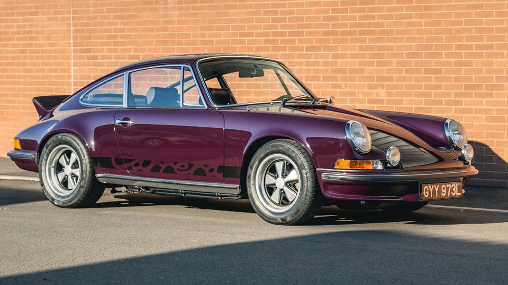 A 1973 911 Carrera RS 2.7, in Aubergine Purple, available through CollectingCars.com.