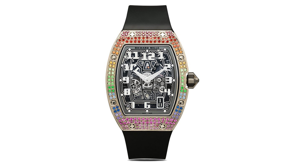 Pre-Owned Richard Mille Customized by MAD Paris RM 67-01 Rainbow 50 mm