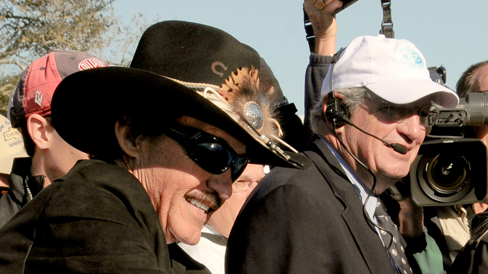 Motorsport royalty Richard Petty (left) with Bill Warner at the Amelia Island Concours d'Elegance.
