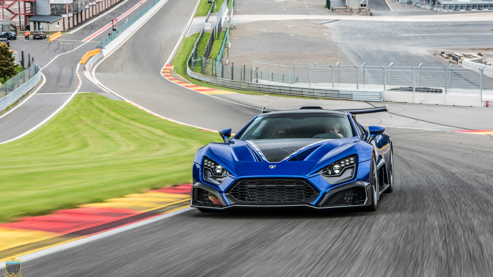 The Zenvo TSR-S being put through its paces on track.