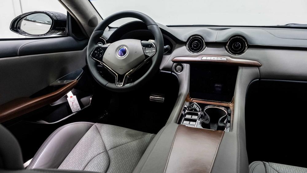 Inside the Karma GS-6L hybrid sedan.