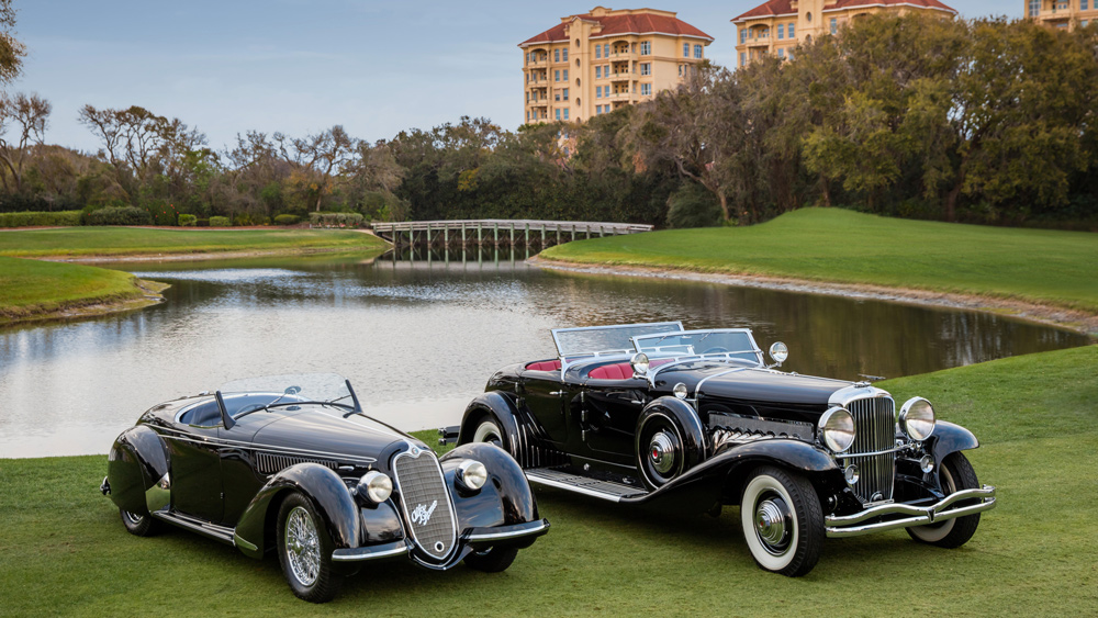 In 2017, a 1939 Alfa Romeo 8C 2900B Lungo Spider earned Best of Show Concours de Sport, and a 1935 Duesenberg Model SJ-582 garnered Best of Show Concours d'Elegance at the Amelia Island Concours d'Elegance.