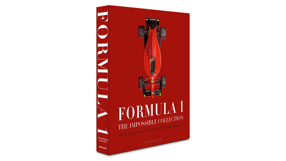 """The book """"Formula 1: The Impossible Collection"""" from Assouline Publishing."""