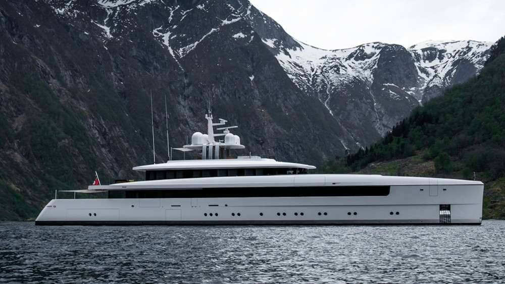 Vitruvius superyachts share common features like a vertical bow and sleek profile