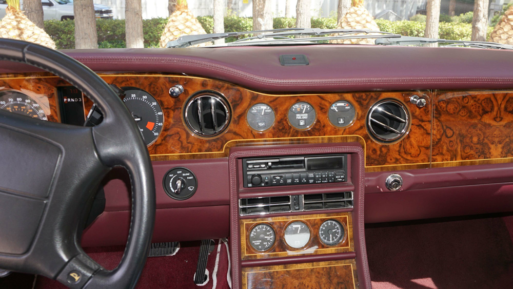 The interior of the 1994 Rolls-Royce Corniche owned by Roy Horn of Siegfried and Roy.