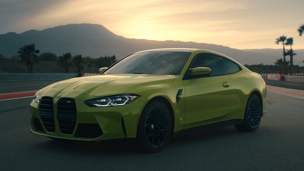 The 2021 BMW M4 coupe.
