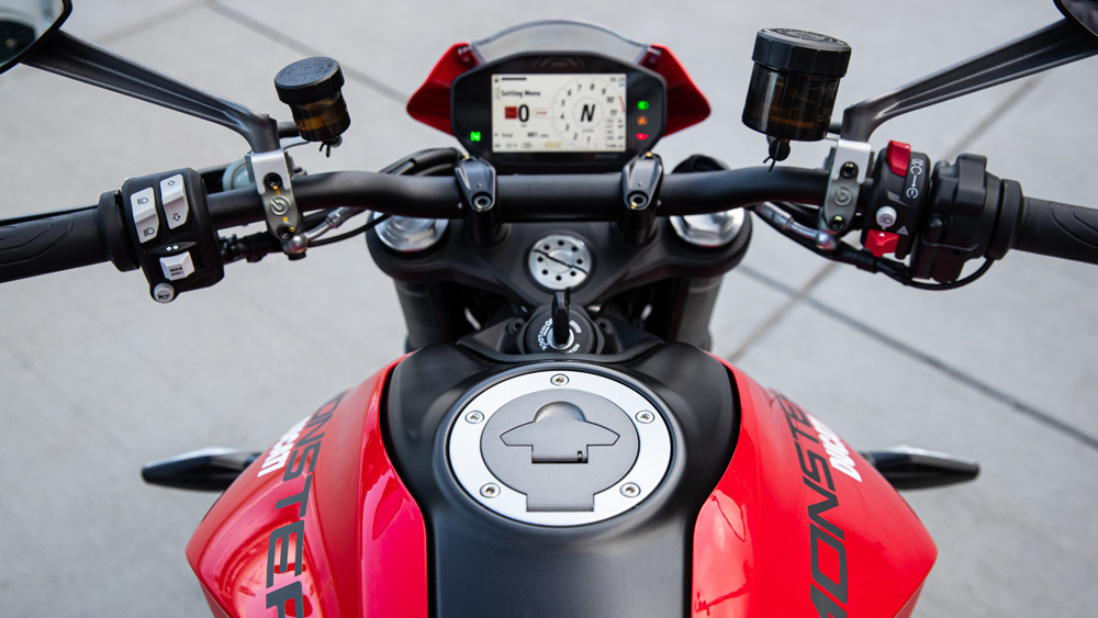 The 2021 Ducati Monster motorcycle.